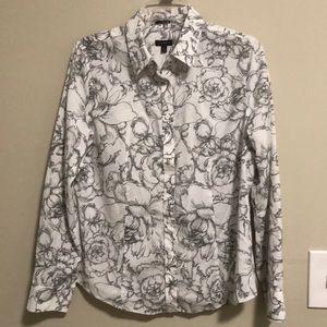 Talbots button down long sleeve shirt SZ 10 EUC